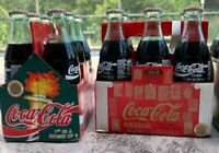 VINTAGE 1996 COCA-COLA COKE ATLANTA OLYMPICS GLASS BOTTLES ALL 6 IN THE SERIES