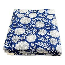 Indian Hand Block Printed Cotton Sewing Voile Fabric Dressmaking 5 Yards HDOFAE
