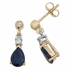 Unbranded Drop/Dangle Yellow Gold Sapphire Fine Earrings