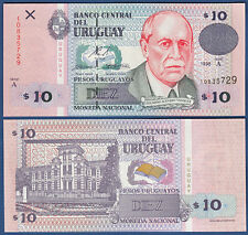 Uruguay 10 pesos uruguayos 1998 UNC P. 81