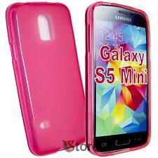 Cover Custodia Per SAMSUNG Galaxy S5 Mini G800F Fucsia GEL SILICONE + Pellicola