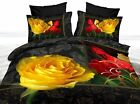 YELLOW ROSE Queen/King Size Bed Duvet/Doona/Quilt Cover Set Pillowcases New