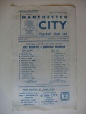 Liverpool Football Reserve Fixture Programmes (1970s)