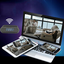 Mini WIFI 1080P Night Vision HD SPY Hidden Camera Clock P2P Motion Detection Cam