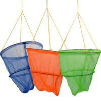 Crab Drop Nets 29cm 2 Tier Round | Bait Bag | 3 colours available | Beach Fun🦀