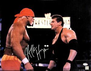 WWE HULK HOGAN HAND SIGNED AUTOGRAPHED 16X20 PHOTO WITH PROOF AND PSA COA 1 RARE