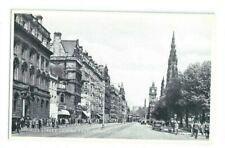 Postcard Princes Street Edinburgh Silveresque series  Scott Memorial