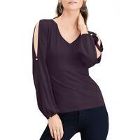 INC NEW Women's Split-sleeve Rhinestone-button Blouse Shirt Top TEDO