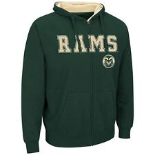 NEW NCAA Campus Heritage Colorado State Rams Core Fleece Full Zip Hoodie 2XL Grn