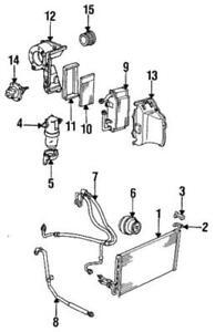 Genuine GM 1985-1995 Chevrolet GMC Oldsmobile Rear HVAC Blower Motor 88960338
