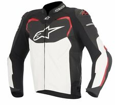 ALPINESTARS T-GP PRO LEATHER JACKET BLACK WHITE RED 50