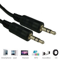 5m - 3.5mm Jack to Jack Aux Cable STEREO Audio Auxiliary Lead PC Car Phone Wire