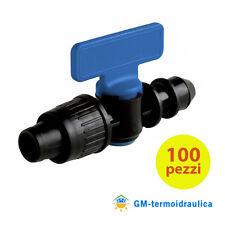 Valvola per Tape Manichetta Diametro 17 mm Innesto Tubo Polietilene 100 Pzz