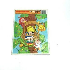 Vtg Rainbow Brite Frame Tray Puzzle 1983 Hallmark Cards Golden Books
