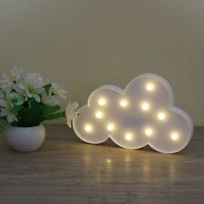 Cloud LED Light Child's Children Battery Operated Marquee Night Wall Lamp gift