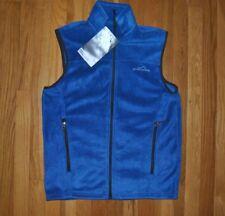 NWT Mens Eddie Bauer True Blue Fleece Quest 200 Vest Size M MEDIUM $45
