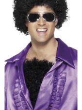 PELOSO torace uomo anni 70 Disco Fever Accessorio Vestito Nero RICCI capelli