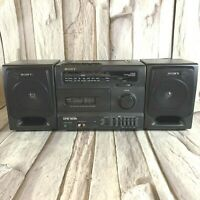 Sony CFS-1035 Portable Boombox AC/DC FM/AM Cassette CD Line-In Tape Doesn't Work