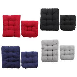 Rocking Chair Cushion Set 2 Piece Soft Non-Slip Recliner Indoor/Outdoor