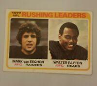 Walter Payton 1978 Topps Rushing Leader Card # 333  VG