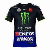 Valentino ROSSI VR46 2019 Moto GP Replica Sponsor Monster Yamaha T Shirt - Mens