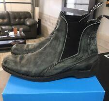 John Fluevog Distressed Grey mens boots