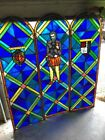 Mar 211 Three Piece Arched Stain Glass Figural Landing Set 18 25 X 58 Each