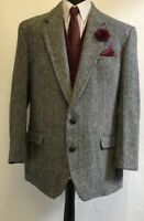 MS2478 CENTAUR HARRIS TWEED MEN'S GREY& BLACK  BLAZER JACKET SIZE  46 UK