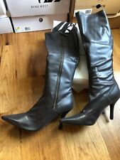 """STRETCH SEXY  Nine West """"Blake"""" Boot - Women's Size 12M - Brown Synthetic NIB!"""