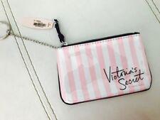 (1) NIP Victoria's Secret Pink Stripe VS Logo Key Ring Coin Purse/Card Case
