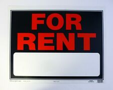 """HILLMAN FOR RENT SIGN Plastic 15""""x19"""" #840026 Apartment, Business, Rental Home"""