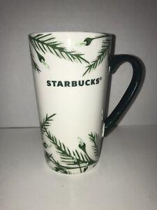 Starbucks Holiday Ceramic Mug Christmas Tree Lights 16oz