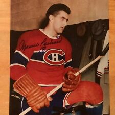 MAURICE RICHARD Auto 8x10 PHOTO w/#9 .MONTREAL CANADIENS Vintage w/Show Ticket