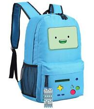 Adventure Time BMO Backpack Blue Beemo Canvas School Bag New/wtag