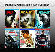 MISSION IMPOSSIBLE 1 2 3 4 5 6 BLU RAY Ghost Protocol Rogue Nation Fallout NEW