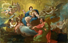 Free shipping huge Oil painting Madonna with angels St.Peter in landscape canvas