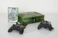 Original XBOX HALO EDITION Green Console + Halo Game & Controllers TESTED