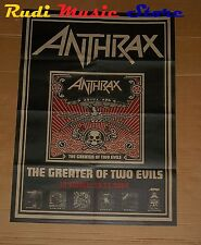 POSTER PROMO ANTHRAX THE GREATER OF TWO EVILS 84 X 59,5 cm cd dvd vhs lp live mc