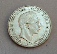 """Silbermünze 5 Mark Silber 900er   Wilhelm II König v. Preussen  1895  """"A"""""""