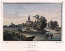 EDAM Nederland Netherland Holland - orig. Stahlstich von 1850 alte Ansicht
