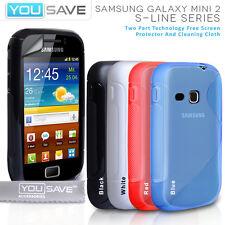 Accessories For The Samsung Galaxy Mini 2 S6500 S-Line Silicone Gel Case Cover