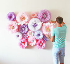 Amazing flower backdrop wall.Oversized paper blooms 30 units.Wedding centerpiece