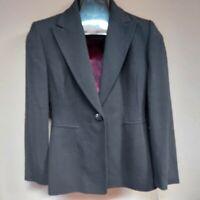 Kasper Petite Womens 100% Wool One-Button Blazer jacket Black Size 2P New $290