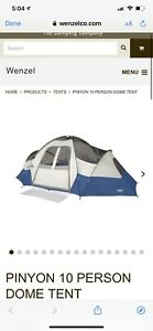Wenzel Pinyon 10 Person 10 x 18 Feet Dome Family Camping Tent, Blue (Brand new)