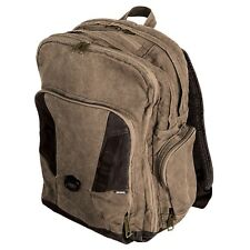 "DRI DUCK Traveler 32L 17"" Laptop / MacBook Pro Concrete Canvas Backpack Khaki"