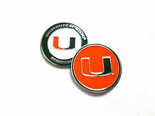 NCAA Miami Hurricanes Golf Ball Marker Enamel Metal Team Logo 2 Sided Hat