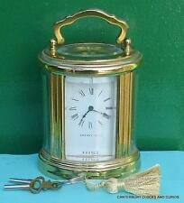Tiffany & co 8 français jour montre ovale laiton boudoir transport horloge desservies