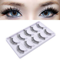 5 Pair Natural Long Thick Soft Fake False Eyelashes Handmade Makeup Popular A*