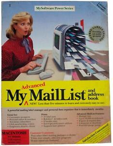 "MY ADVANCED MailList Address Book VTG 90s Big Box MAC SOFTWARE 3.5"" Floppy Disk"