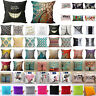 Vintage Cotton Linen Sofa Pillow Case Bed Waist Throw Home Throw Cushion Cover